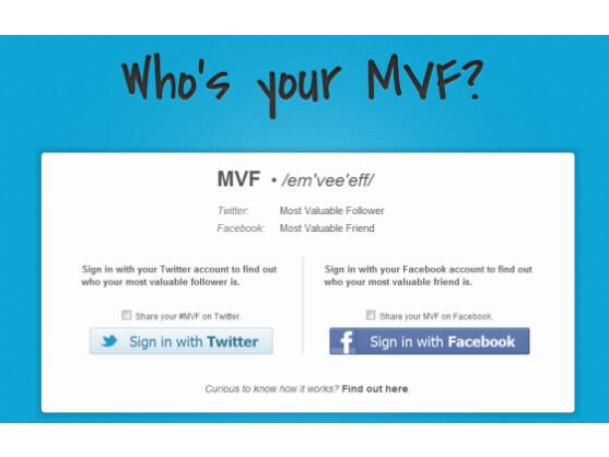 Dank MVF lässt sich einfach der beste Facebook-Freund ermitteln.