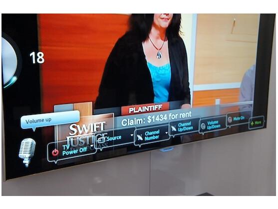 Deutsche Sprachbefehle kann Samsungs Smart-TV leider noch nicht entgegennehmen.