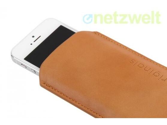 Echtes Leder: Das iPhone 5 Sleeve Brown von Mujjo