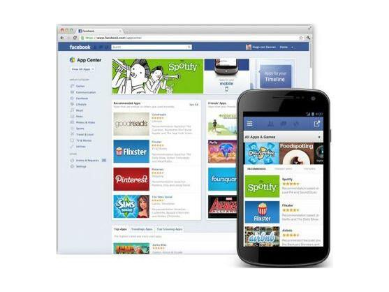 Im Facebook App Center sollen Anwendungen, die besonders gut bewertet wurden, auf der Startseite oben stehen.