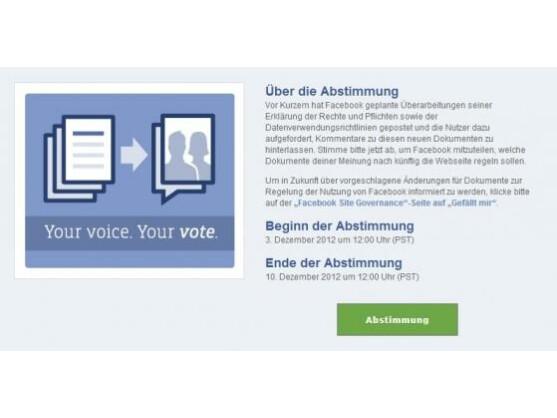 Facebook bittet seine Mitglieder erneut zur Abstimmung. Zum letzten Mal?