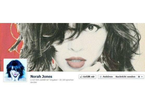 """Auf der Facebook-Seite von Norah Jones und anderen Musikern findet sich nun ein """"Anhören""""-Button."""