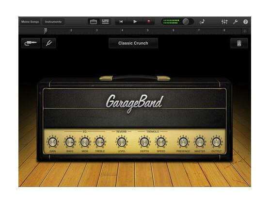 GarageBand wurde aktualisiert und unterstützt das Retina-Display des neuen iPads.
