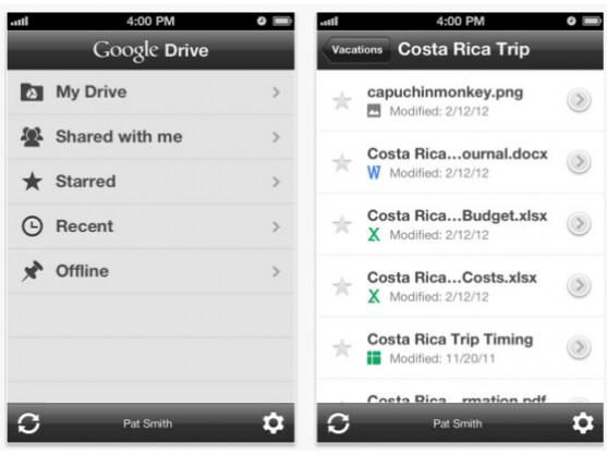 Google Drive bietet nun auch Nutzern von iPhone und iPad fünf Gigabyte Gratis-Speicher.