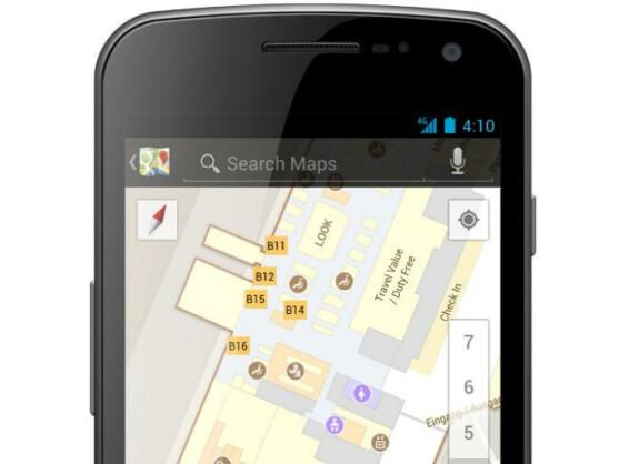 Google Indoor Maps hilft bei der Orientierung in großen Gebäuden.