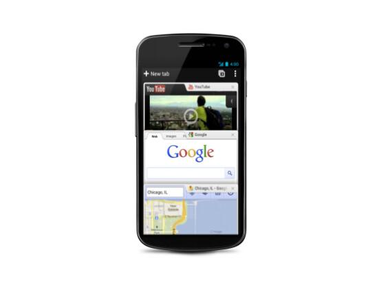 Für die Android-Version von Googles Chrome-Browser ist ein Update erschienen.