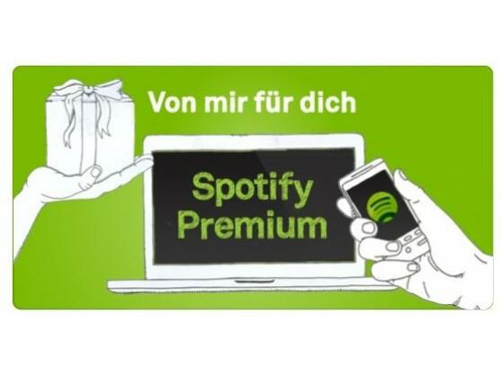 Ein Gutschein für Spotify lässt sich jederzeit verschenken.