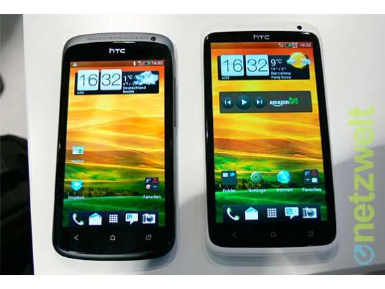 Das HTC One S (links) und das HTC One X erhalten aktuell ein Update auf Android 4.1 Jelly Bean.