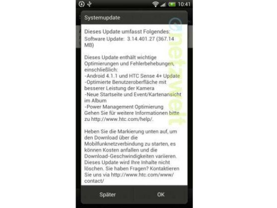 Für das HTC One X ist nun auch in Deutschland Jelly Bean verfügbar.