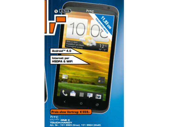 Das HTC One X ist das Flaggschiff-Modell aus der neuen Smartphone-Serie von HTC.