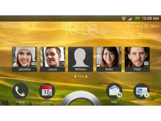 Bei HTC Sense 4.0 kann der Nutzer vom Sperrbildschirm direkt auf seine Kontakte zugreifen.