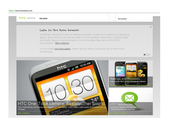 HTC stellt seinen Online-Dienst HTCSense.com ein.