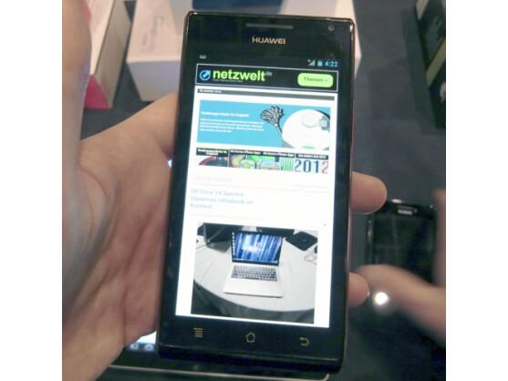 Das Huawei Ascend P1 und das Huawei Ascend P1S (hier im Bild) verspäten sich.