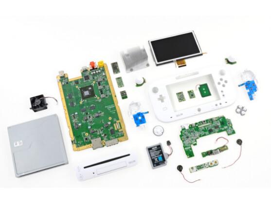Hübsch aufgereiht: die Innereien der Nintendo Wii U.