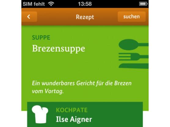 Auch Ilse Aigner hat ein Rezept zur Verfügung gestellt.