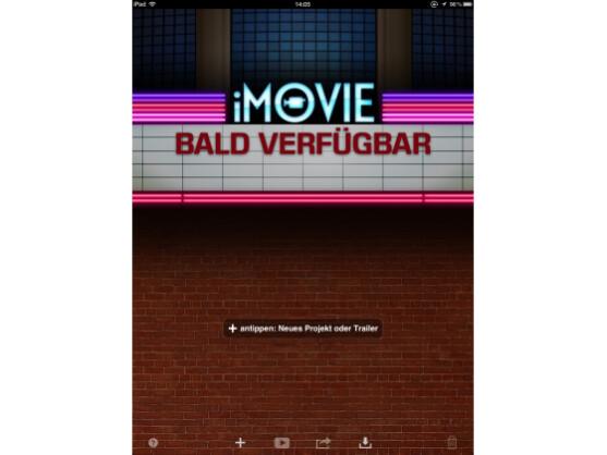 Mit iMovie können Filme oder Trailer erstellt werden.