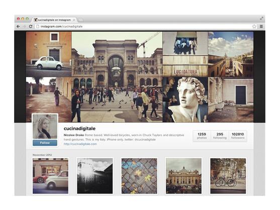 Instagram gewährt seinen Nutzern bereits seit LängeremWeb-Profile.