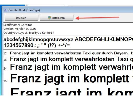 Die Installation zusätzlicher Schriftarten unter Windows 7 ist kinderleicht.