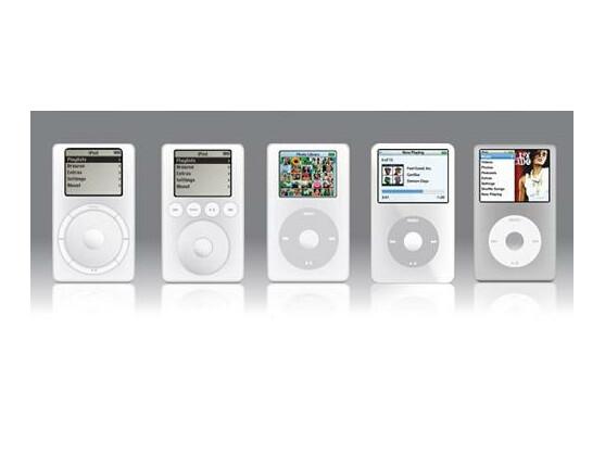 Der iPod im Wandel der Zeit. Heute wird er elf Jahre alt und sieht jünger aus als zuvor.