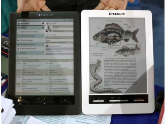 Der jetBook Color besitzt als erster E-Book-Reader ein farbiges E-Ink-Display.