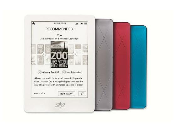 Kobo Glo ermöglicht das Lesen im Dunkeln.