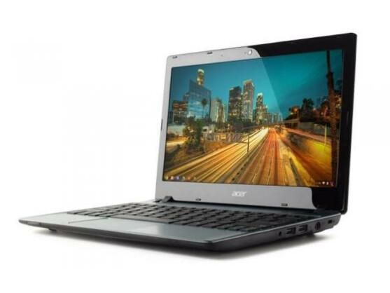 Kostet nur 199 US-Dollar, dafür hält der Akku aber auch nur 3,5 Stunden: Acer C7 Chromebook