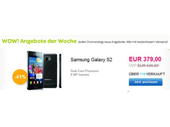 Kurz vor dem Marktstart des Nachfolgers wird das Samsung Galaxy S2 als eBay WoW der Woche angeboten.
