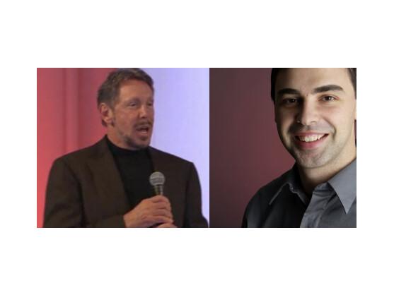 Larry versus Larry: Vor Gericht streiten Oracle-Chef Larry Ellison und Google-Chef Larry Page (rechts) über die Verwendung von Java in Android.