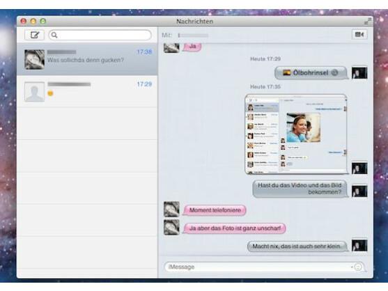 Mac OS X Nachrichten: Der iChat-Nachfolger im iOS-Gewand.