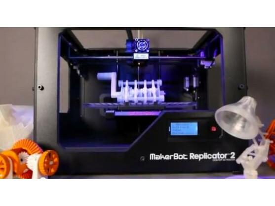 Der MakerBot Replicator 2 passt auf jeden Schreibtisch.