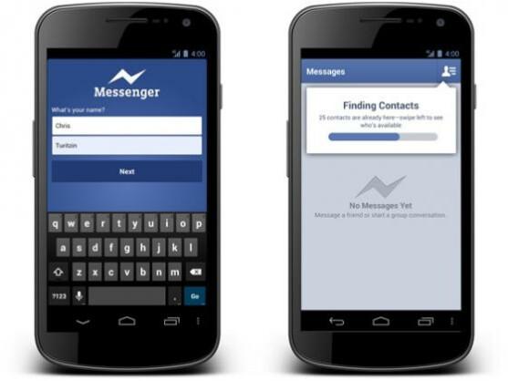 Der Messenger kann jetzt auch ohne Facebook-Account genutzt werden.