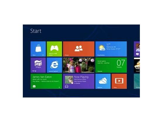 Die Metro-Oberfläche von Windows 8 ist für die Touchscreens von Tablet-PCs optimiert. (Screenshot: Microsoft)