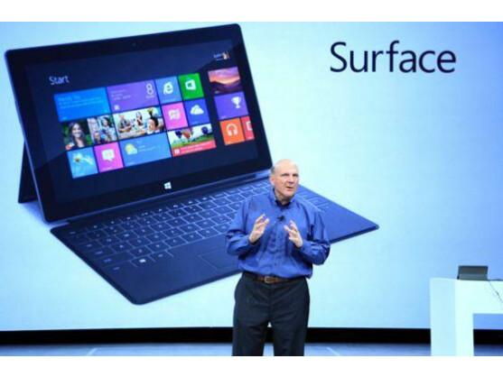 Microsoft-Chef Steve Ballmer enthüllte in Los Angeles den Tablet-PC Surface.