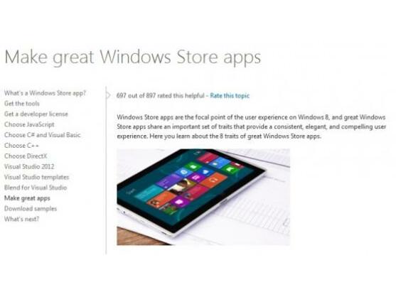 Microsoft nutzt die neue Bezeichnung Windows Store-Apps bereits auf seinen Webseiten.