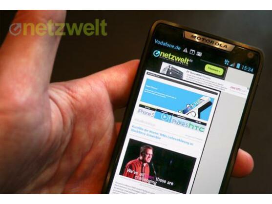 Das Motorola Razr i soll bald ein Update auf Android 4.1 erhalten, künftig können Nutzer solche Aktualisierungen vorab testen.