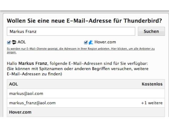 Mozilla Thunderbird 10 bietet an, ein E-Mail-Konto direkt beim ersten Start zu erstellen.