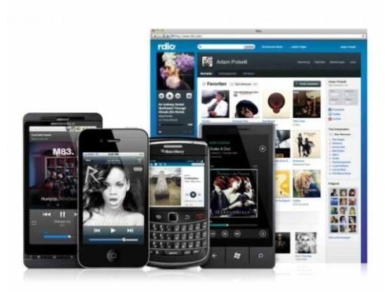 Der Musikstreaming-Dienst Rdio ist stationär via Desktop, aber auch mit mobilen Endgeräten empfangbar.