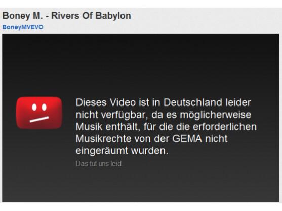 Sowohl YouTube als auch die Verwertungsgesellschaft fordern Verhandlungen, damit diese Anzeige künftig vermieden werden kann.