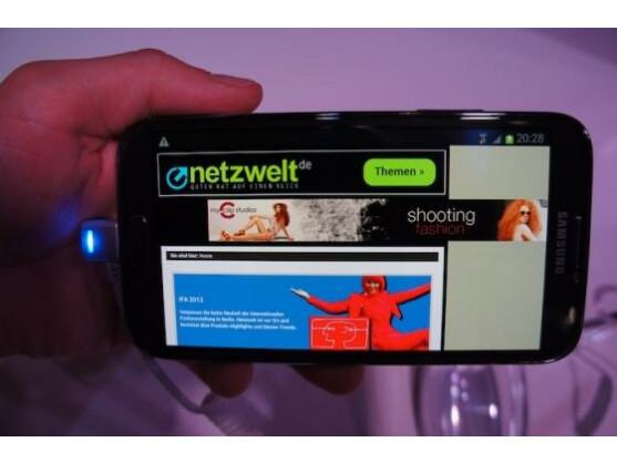 Nachfolger: Samsung stellt in Berlin das Galaxy Note 2 der Öffentlichkeit vor.