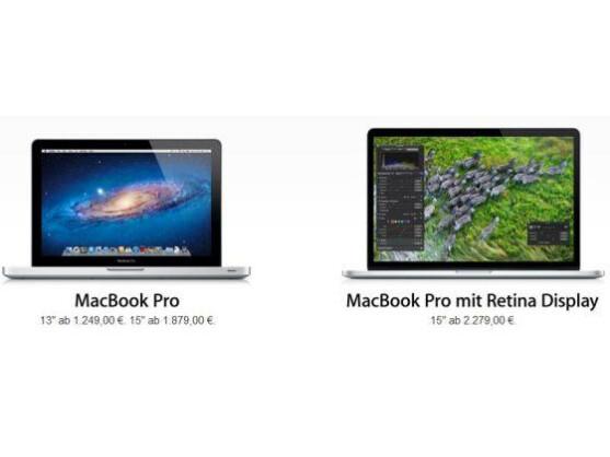 Neben dem MacBook Pro mit Retina Display hat auch das MacBook Air mit der bisherigen Bildschirmauflösung Neuerungen erfahren.