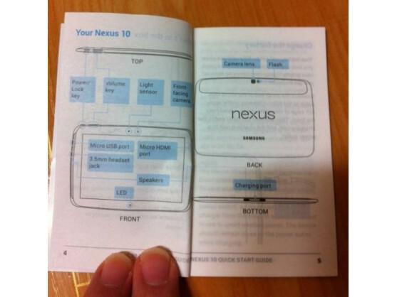 Im Netz ist ein mutmaßliches Nexus 10-Handbuch aufgetaucht.