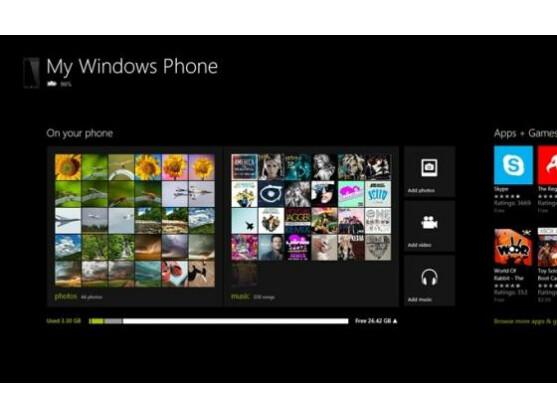 Die neue Windows Phone-App synchronisiert PC und Smartphone.