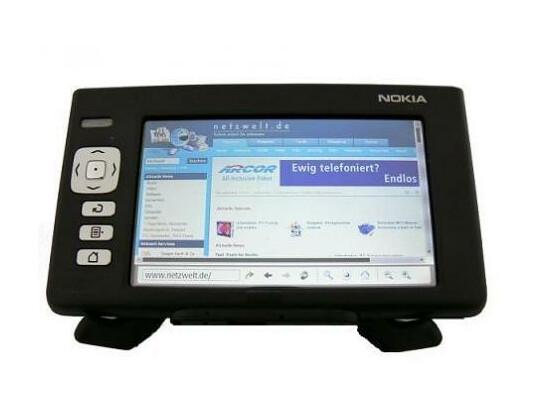 Das Nokia Internet Tablet 770 war der erste Gehversuch von Nokia im Tablet-Bereich.