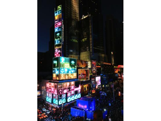 Nokia übernahm am Karfreitag den New Yorker Times Square.