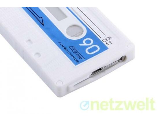 Für Nostalgiker gibt es die Hülle im Look einer alten Kassette.
