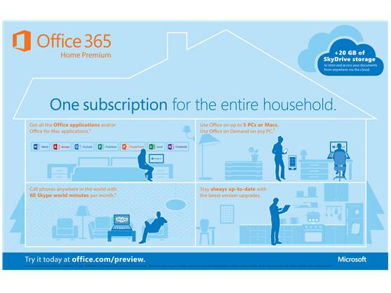 Office 365 Home Premium kostet knapp 100 US-Dollar pro Jahr.