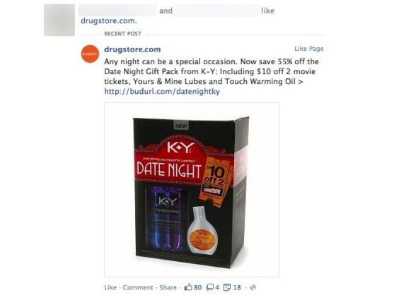 Peinlich: Ein Nutzer machte unfreiwillig Werbung für ein Gleitgel.