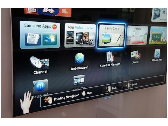 Per Stimme und Gesten steuerbar: Samsung Smart-TV ES 8090 auf der CES 2012
