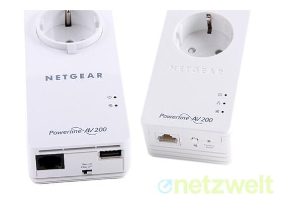 Powerline mal anders: Das Netgear-Adapterpaar stellt eine Internetverbindung über die Stromleitung her, dient aber auch zur AirPlay-Aufrüstung von Heimelektronik.