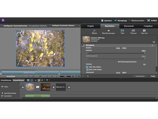 Premiere Elements kann Bilder und Videos ganz einfach kombinieren.